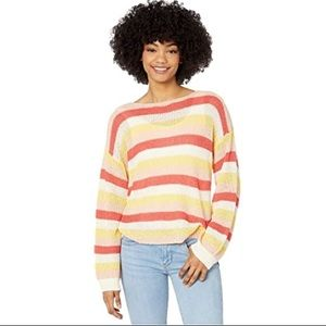 🧁 Cupcakes and Cashmere   Multi-Stripe Boatneck